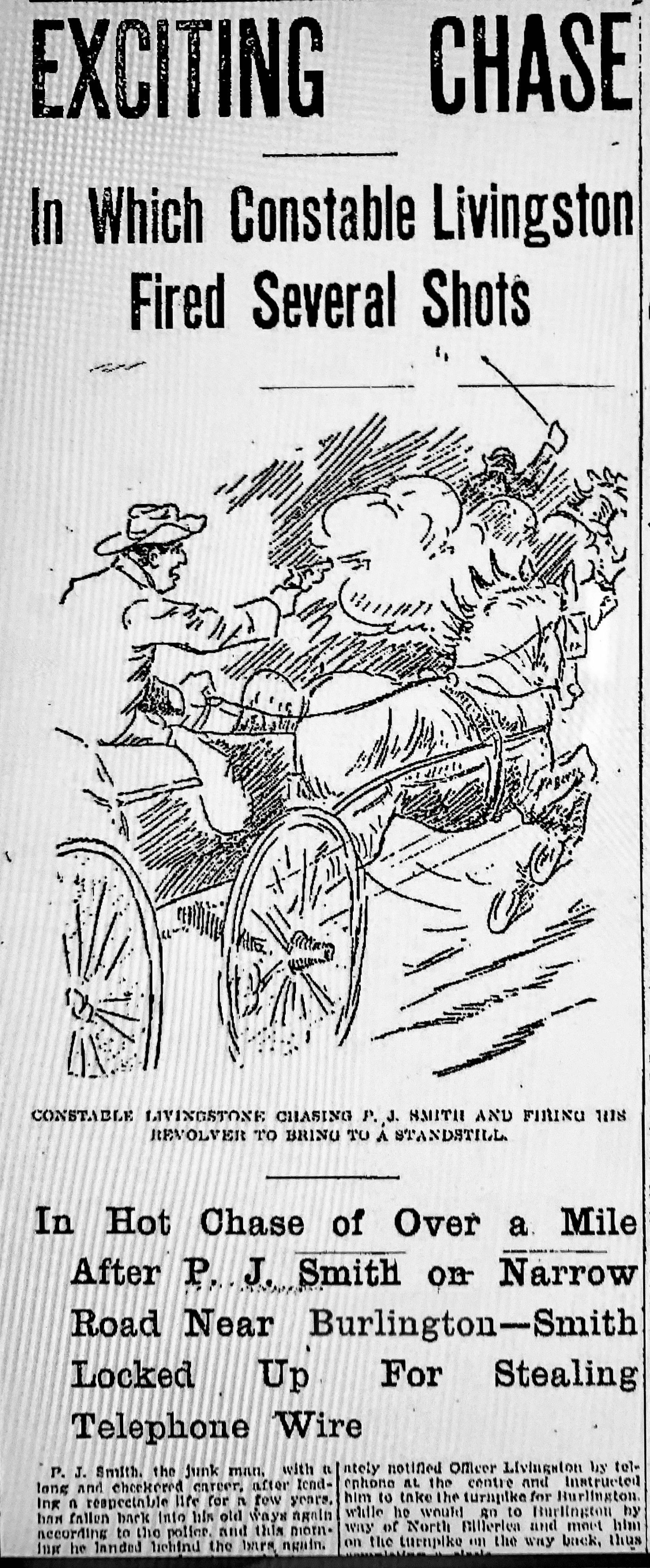 Lowell Sun March 11, 1905 front page graphic
