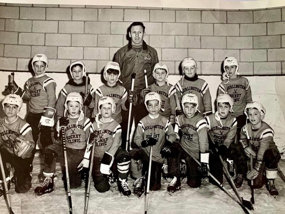 Burlington hockey clinic c. 1969 Burlington MA