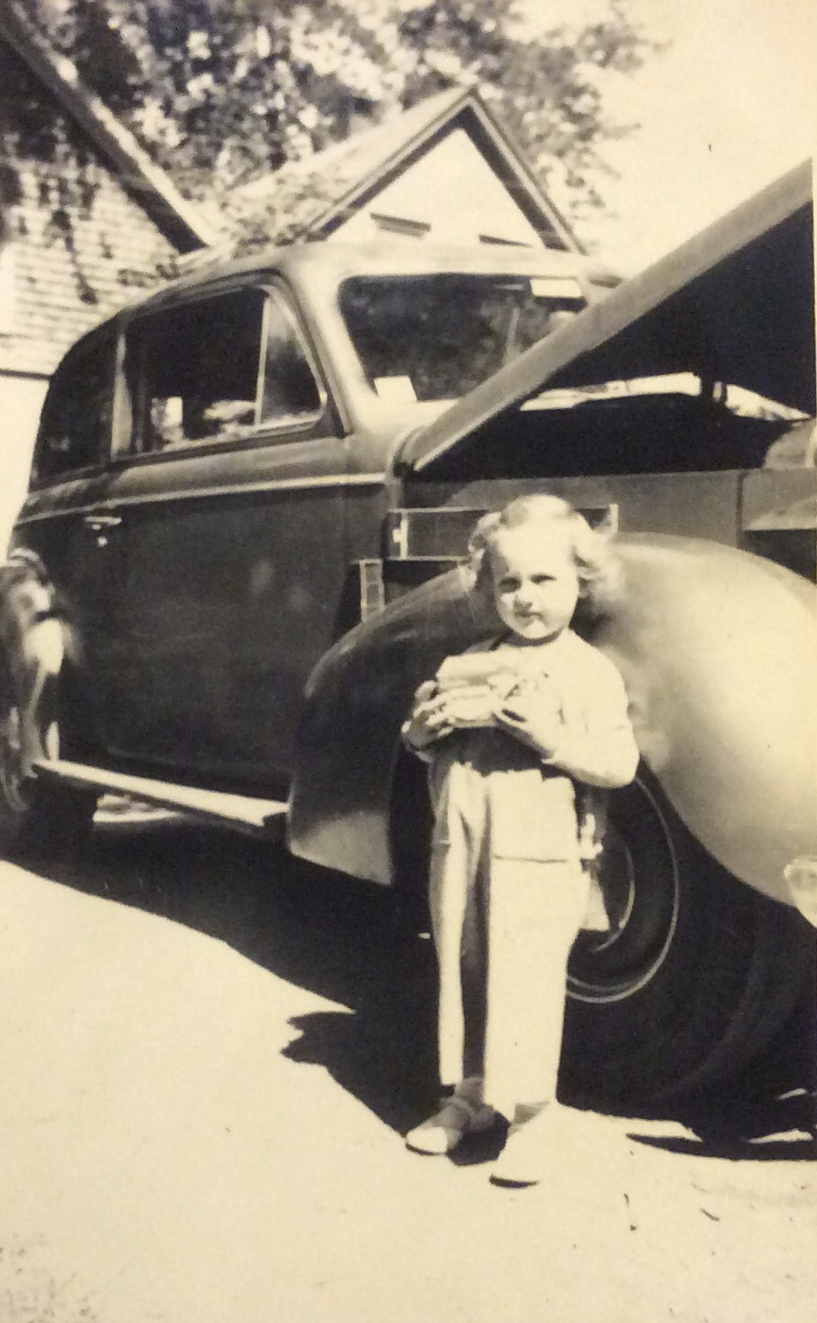 Louise French and family car Burlington MA