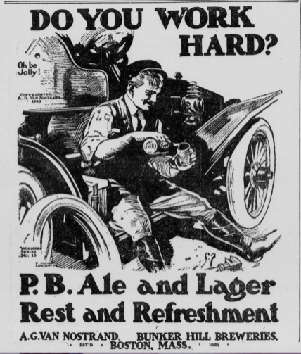 P.B. Ale and Lager ad 1909