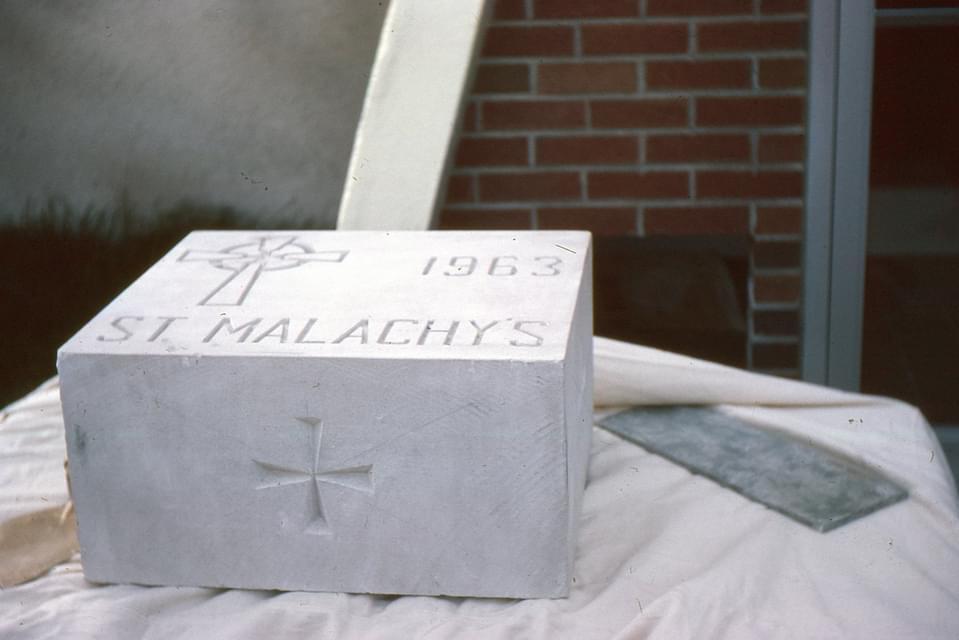 St Malachy cornerstone. Photo credit: Liz Serpa