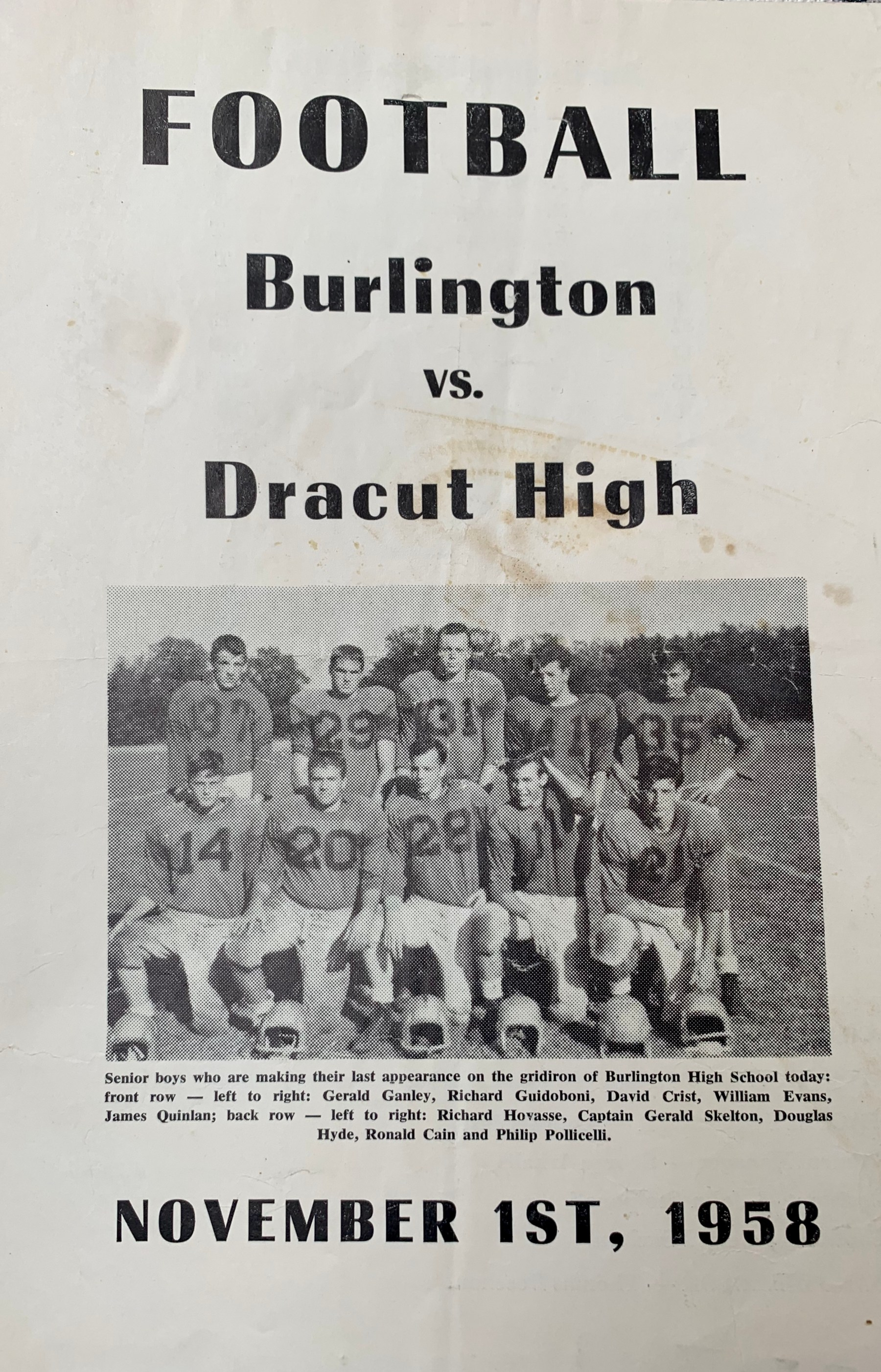 Burlington vs Dracut football