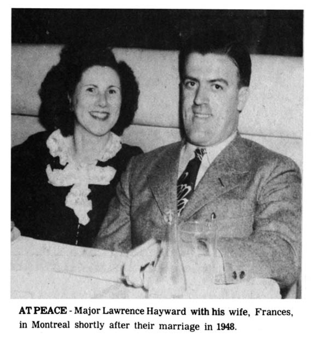 Lawrence Hayward with with Frances in 1948