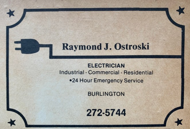 Raymond Ostroski electrician, Burlington MA