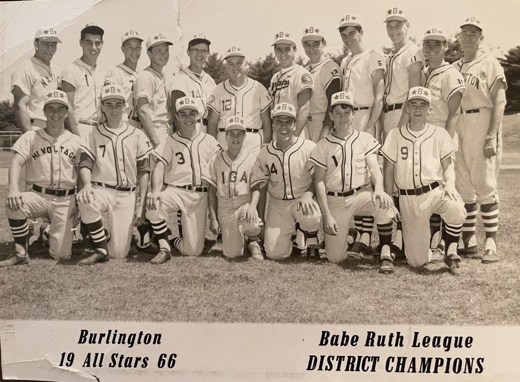 1966 Burlington Babe Ruth district champions. Photo credit: Linda Koutrouba Doherty