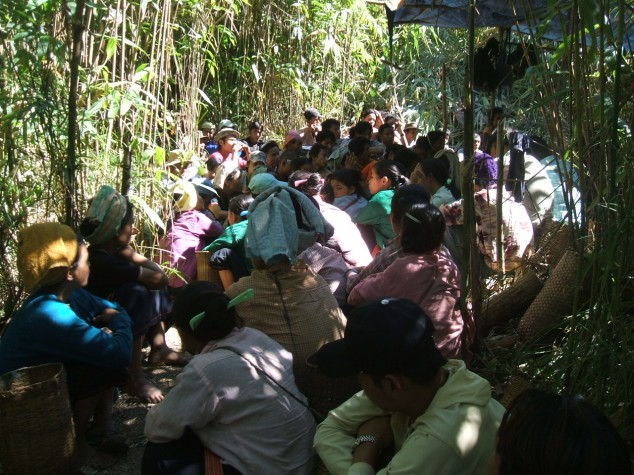 Refugees from Eastern Burma in the Jungle