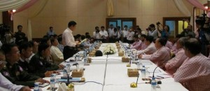 မြန်မာအစိုးရနှင့် မွန်ပြည်သစ်ပါတီ အပစ်အခတ်ရပ်စဲမှုဆွေးနွေးနေစဉ်( photo- IMNA)