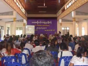 ပထမအကြိမ် မွန်အမျိုးသမီးညီလာခံကျင်းပနေပုံ(IMNA)
