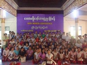 မွန်အမျိုးသမီးညီလာခံအမှတ်တရဓါတ်ပုံ(IMNA)