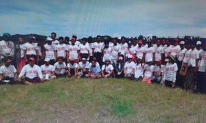 အံဒင်ကျောက်မီးသွေးစီမံကိန်း မြေနေရာသို့ YSS အဖွဲ့ရောက်ရှိခဲ့စဉ်(ရေးတော်ဝင်)
