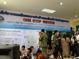 လုပ်လုပ်ခွင့်လက်မှတ်ထုတ်ပေးသည့်နေရာ(MW RM Facebook)