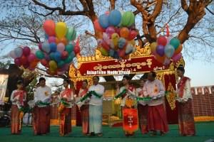 ဝန်ကြီးချုပ် ဦးမြင့်ဆွေ ရန်ကုန်-မွန်အမျိုးသားနေ့အခမ်းအနားတက်ရောက်ခဲ့စဉ်(IMNA)