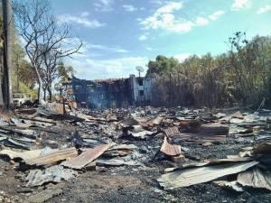 ဘုရင်မစားသောက်ဆိုင် မီးလောင်ဆုံးရှုံးခဲ့ပုံ(IMNA)
