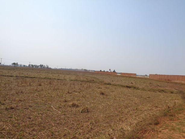 အုတ်တံတိုင်းကာရန်ထားသော ကတုံးပေါ်ဆိပ်ကမ်းစီမံကိန်းကို လမ်းသစ်မြေနေရာမှမြင်တွေ့ရပုံ(IMNA)