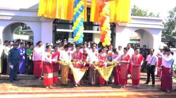 မွန်ပြည်နယ်ဝန်ကြီးချုပ်နှင့်အဖွဲ့ ဖဲကြိုးဖြတ်ဖွင့်လှစ်စဉ်(IMNA)