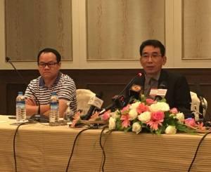 DPN ခေါင်းဆောင် ခူဦးရယ်က ရန်ကုန်မြို့သတင်းစာရှင်းလင်းပွဲ၌ ပြောကြားစဉ်(MNA)