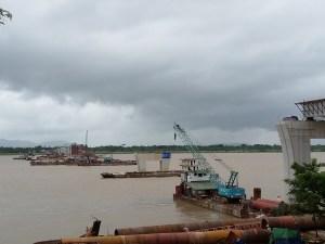 သံလွင်တံတား (ချောင်းဆုံ) မုပွန်ဘက်ကမ်း တည်ဆောက်နေမှု (ယဉ်ချိုင်း)