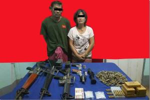 နေအိမ်တွင် လက်နက်နှင့် မူးယစ်ဆေးဝါးဖမ်းဆီးရမိသူ(ရဲဇာနည်)