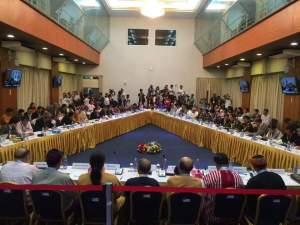 နိုင်ငံရေးမူဘောင်သုံးသပ်ဆွေးနွေးချက်အစည်းအဝေး(Hla Maung Shwe FB)