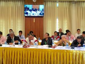 UPDJC နှင့်အစည်းအဝေးတစ်ရပ် EAO's တက်ရောက်နေစဉ် (Hla Maung Shwe Facebook)