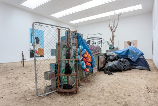 Henry Taylor, with a New Film by Kahlil Joseph Installation view, 2016; Blum & Poe, Los Angeles, Photo: Joshua White/JWPictures.com