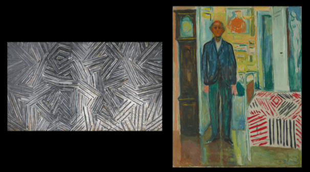 Similarities in the work of Jasper Johns and Edvard Munch are revealed in an exhibition at the Virginia Museum of Fine Arts.