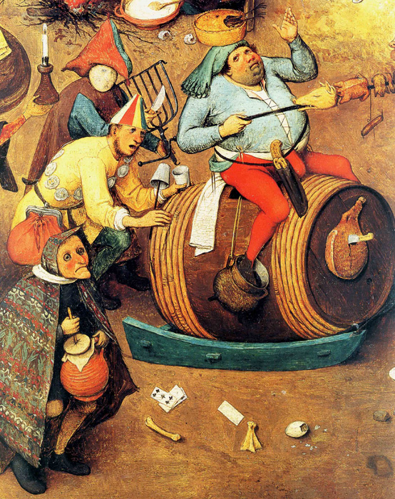 Detail of The Fight Between Carnival and Lent by Pieter Bruegel the Elder.