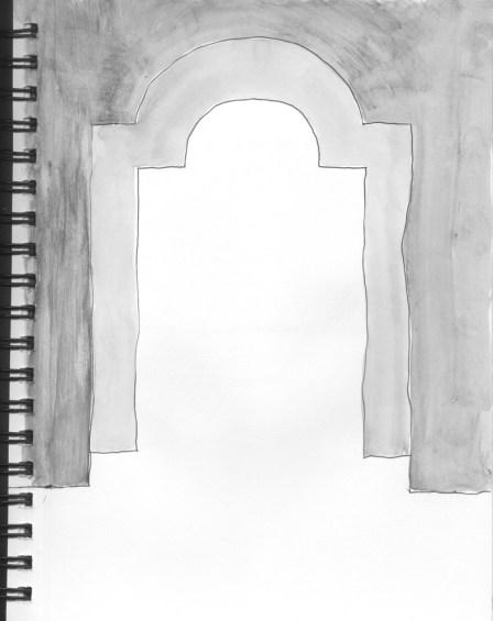 sketchbook David Onri Anderson 13. entryways (grayscale)