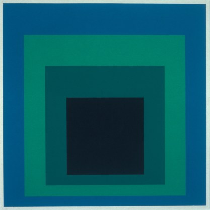 """Josef Albers, Homage to the Square, 1968, screen print, 23-1/2"""" x 23-1/2"""". The Peabody College Collection, Vanderbilt University Fine Arts Gallery"""