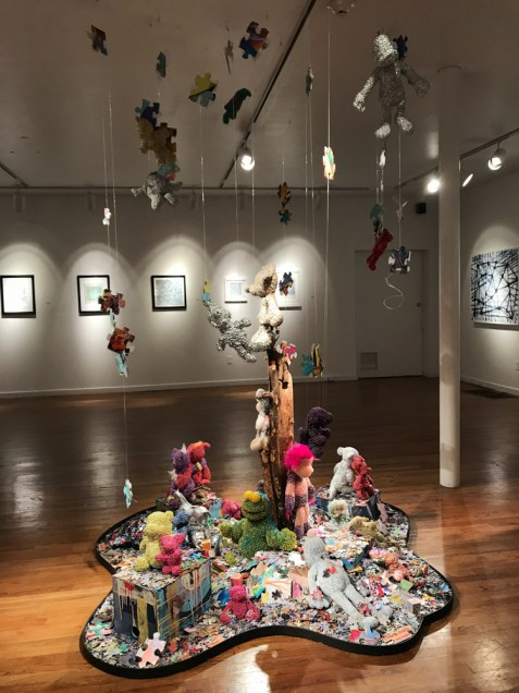 "Jeffrey Wilcox Paclipan's ""Radiant Toys"" installation at Chastain Arts Center. (Photo: Chastain Arts Center)"