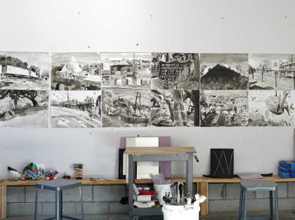The studios of Nashville artists Paul Collins and Alex Blau