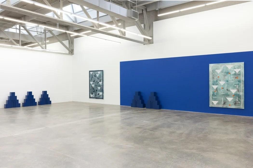 "Installation view of Kamrooz Aram's exhibition ""Ancient Blue Ornament"" at Atlanta Contemporary through April 1."