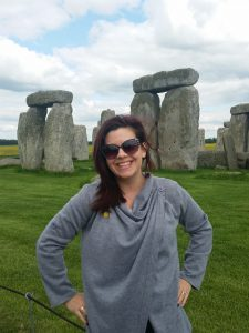 Aimee at Stonehenge