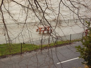 drowned benches