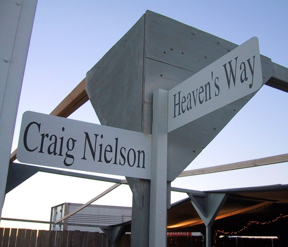 The Craig Nielson Memorial Intersection at Burning Man - Photo: Danger Ranger