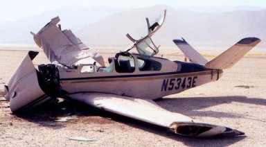 One of two Bonanzas wrecked at the '03 burn - Photo by Rigged