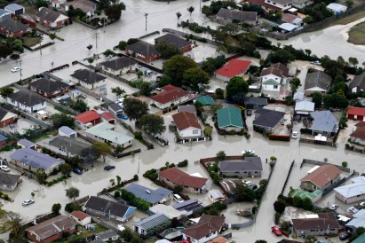 Some areas were badly flooded - Photo: Mark Mitchell/NZ Herald/AP