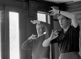 Timothy Leary and Billy Mellon Hitchcock at the Millbrook Estate