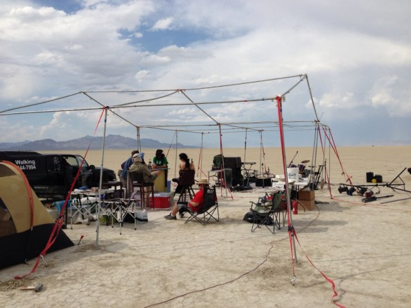 fierce winds destroyed their tarps, but the bar's open!
