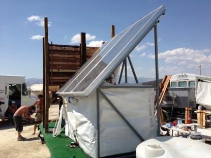 The Sunvelope shower trailer -- PHOTO: Alan Macy