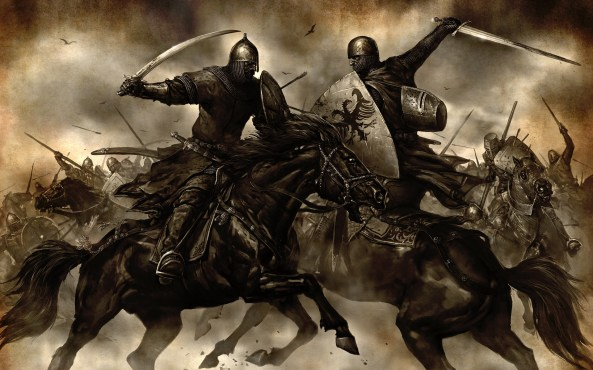 A nice civilized chat -- IMAGE: Mount & Blade
