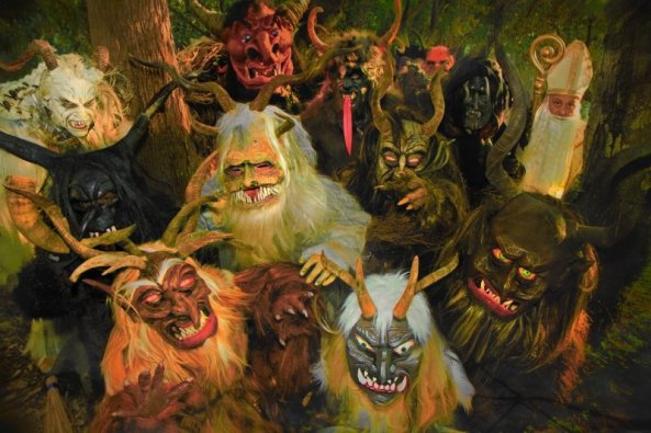 St. Nicholas and the L.A. Krampus Troupe - IMAGE: Phil Glau/Al Ridenour