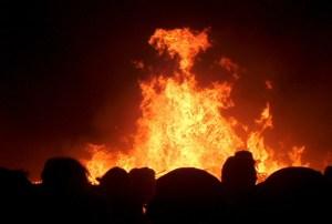 satan in flames