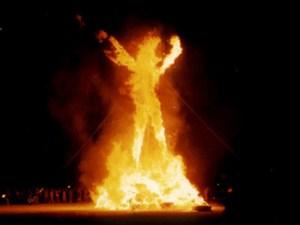 lyft moustache in fire burning-man-lightmatter