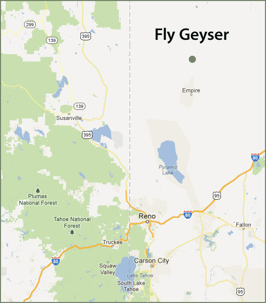 fly geyser map