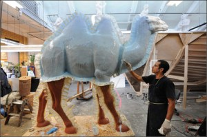 American Museum of National History's Camel Caravan creation