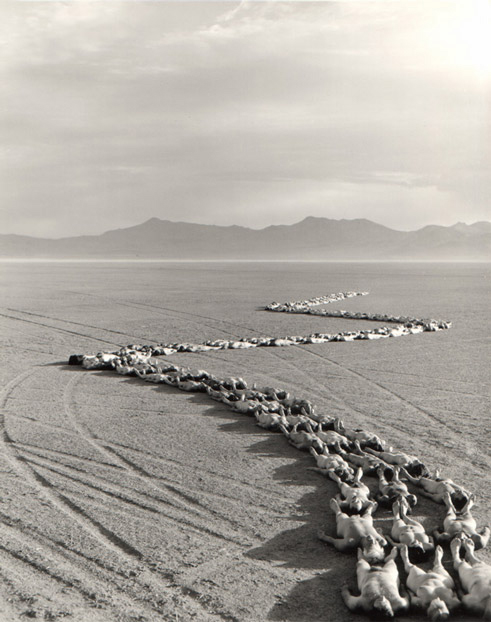 Artist: Spencer Tunick. Burning Man, 2007