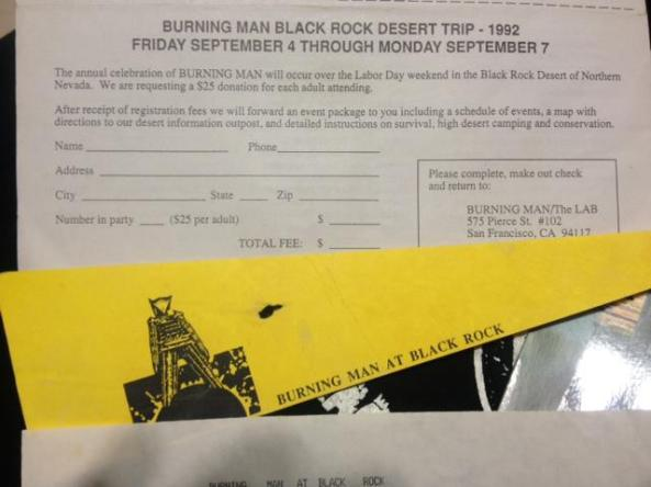 1992 black rock desert trip flyer