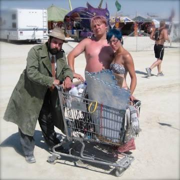 """an """"Art Cart"""". This guy is a true Burner"""