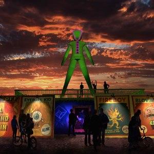 This year's Man design. Image: Burning Man